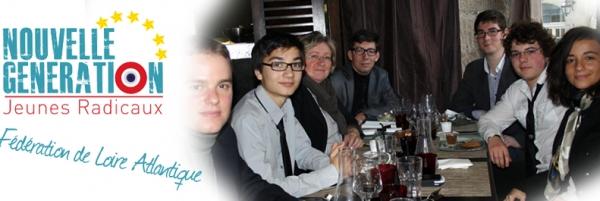 Déjeuner de travail des Jeunes Radicaux de Loire Atlantique