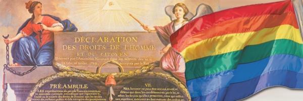 Le mariage homosexuel en accord avec la Déclaration des Droits de l'Homme et du Citoyen
